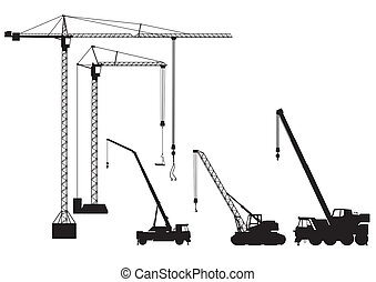 guindaste, truck-mounted, torre
