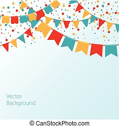 guirlandas, vetorial, coloridos