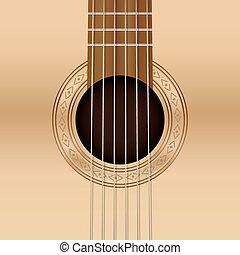 guitarra, buraco são