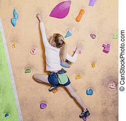 gym., menininha, escalar livre
