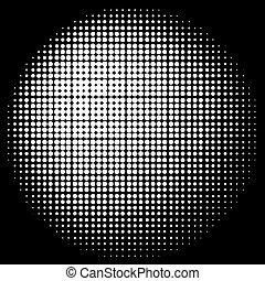 halftone, círculo, textura