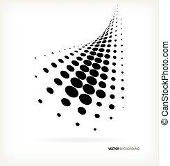 halftone, vetorial, dots.
