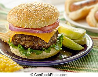hamburger, refeição