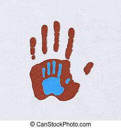 hands., ajudando