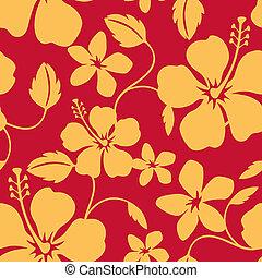 havaiano, padrão, seamless, hula