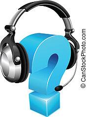 headset desgastando, marca pergunta