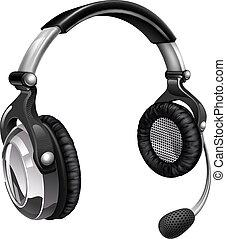 headset, microfone