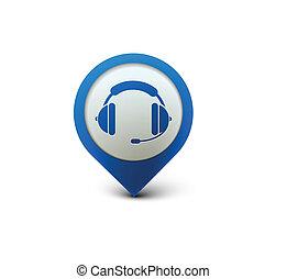 headset, teia, ícone