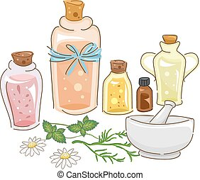 herbário, óleo