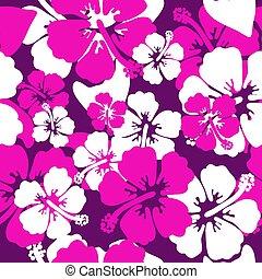 hibisco, camisa verão, seamless, vetorial, desenho, fundo