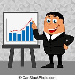 homem negócios, tendências, negócio