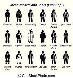 homens, coats., jaquetas