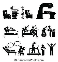 hospitalar, terapia, tratamento médico