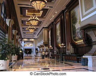 hotel, luxo, lobby