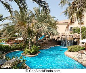 hotel, luxo, natação, uae, piscina, dubai