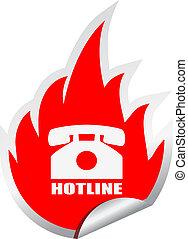 hotline, vetorial, emblema