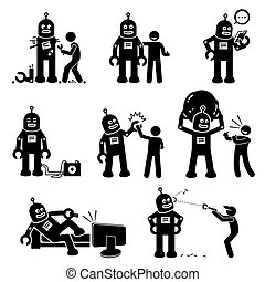 human., robô