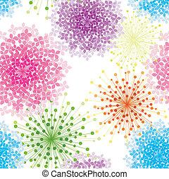 hydrangea, flor, coloridos, seamless, fundo