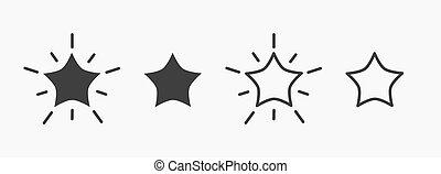 icons., estrelas, jogo