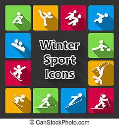 iconset, atletismos inverno