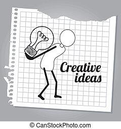 idéias, criativo