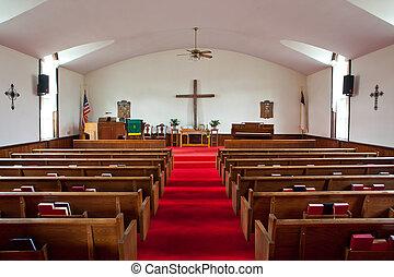 igreja rural, interior