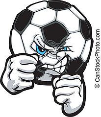 illustr, bola futebol, luta, vetorial