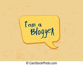 illustration., mídia, vetorial, lettering, social, mão, quote., networks., blogger