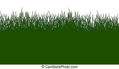 illustration., pattern., silueta, verde, vetorial, bonito, capim, seamless
