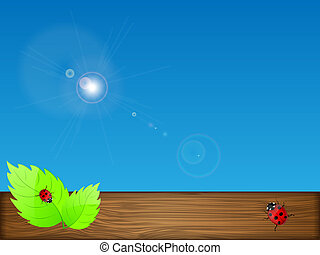 illustration., sky., folhas, vetorial, experiência verde