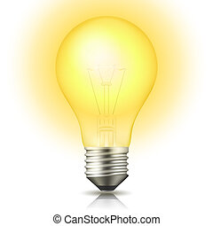 iluminado, bulbo leve