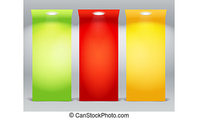 iluminado, coloridos, placas