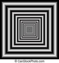 ilusão óptica, tunnel.