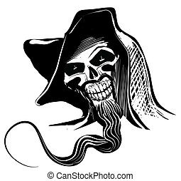 ilustração artística, cranio