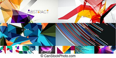 ilustração, backgrounds., vetorial, jogo, abstratos, social, coberturas, voadores, mídia, bandeiras