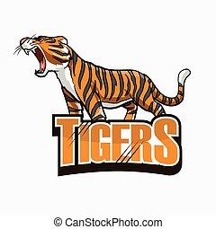 ilustração, desenho, tiger, coloridos