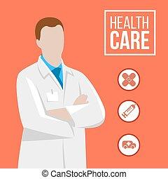 ilustração, doutor