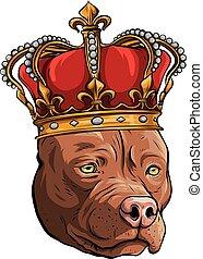 ilustração, fundo, cão, vetorial, rei branco