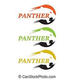 ilustração, modelo, tiger, leão, desenho, vetorial, puma, chita, design., pantera, logotipo, leopardo