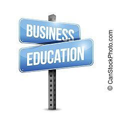 ilustração negócio, sinal, desenho, educação, estrada