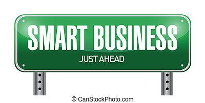 ilustração negócio, sinal, desenho, esperto, estrada