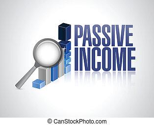 ilustração negócio, sinal, passivo, desenho, renda