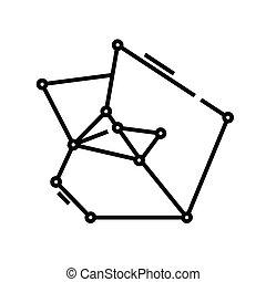 ilustração, símbolo., comunicação, linear, conceito, linha, ícone, vetorial, esboço, sinal, sistema
