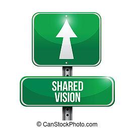 ilustração, sinal, desenho, visão, compartilhado, estrada