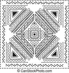 ilustração, vetorial, mandala, desenho
