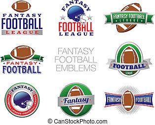 ilustrações, fantasia, futebol, emblema