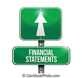 ilustrações, financeiro, declarações, sinal estrada