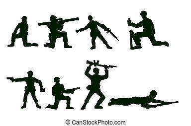 ilustrado, soldados, exército