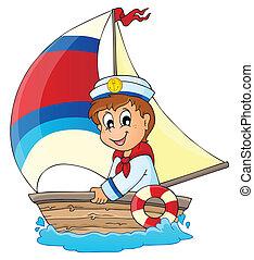 imagem, 3, tema, marinheiro
