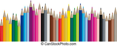 imagem, cor, lápis, -, vetorial